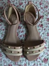 Sandália rosa de spikes NUNCA USADA