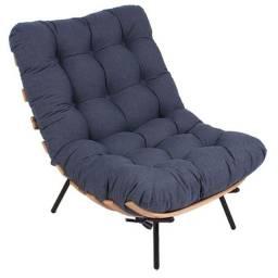 Poltrona Costela - Sarja Azul Jeans