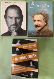 Kit 3 Livros - Walter Isaacson - Einstein, Jobs E Inovadores