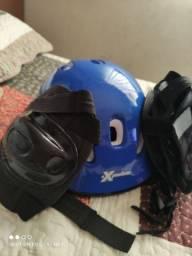 Kit proteção ciclismo e skate