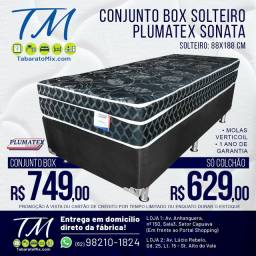 Conj. Solteiro  Plumatex  Sonata Black 26CM   Molas Verticoil l!! Até 12x Sem Juros