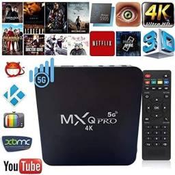 Tv box mxq pro 4k 8 ram 128 interna Android 11.1 Netflix YouTube