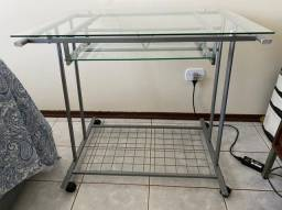 Escrivaninha de vidro temperado