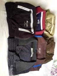 Camisas e calças masculina tam P