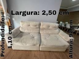 Sofá com chaise reclinável - Ótimo estado R$900