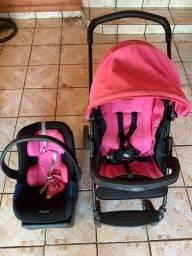 Bebê conforto e carrinho usado