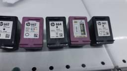 Cartuchos impressoras HP / vazios pra recargas
