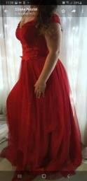 Vestido de luxo longo vermelho