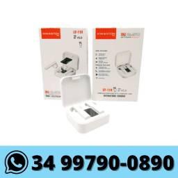 Fone de Ouvido Bluetooth com Visor Digital
