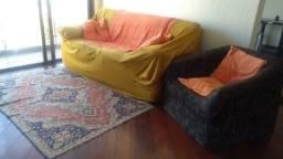 Sofá, Poltrona, tapete oriental, almofada, capa