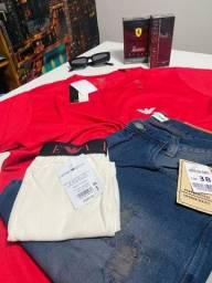 Atacado e varejo Camisa peruana bermuda jeans na melhor do estado