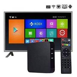 Título do anúncio: Midia TV Box Android 8 de ram/ 128gb Transforme sua TV em uma Smart Tv