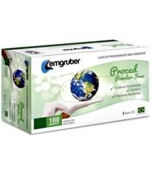 Luva Látex Procedimento Powder Free Lemgruber Com 100 Sem Pó G