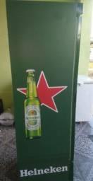 Freezer expositor cervejeiro metalfrio slim plotagem Heineken 220V super novo