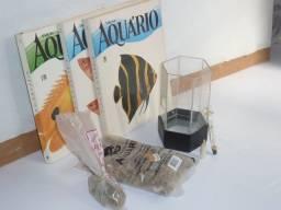 Kit aquário e livros