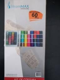 kit 60 linhas de costura