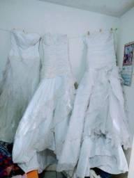 Três lindos vestidos de noiva. Perfeito. * Zap.