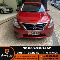 Nissan Versa SV 1.6 Flex 2019 Garantia de Fabrica