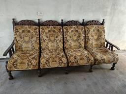 Sofá antigo madeira