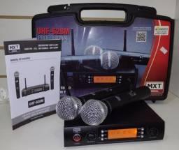 microfone duplo sem fio novo na caixa