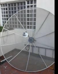 Antena Parabólica Analógica com 2 receptores