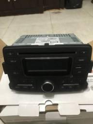 Radio e cd player original sandero
