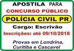 Apostila 2018 concurso Polícia Civil do PR