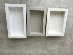 Lavatório de porcelanato nichos e mesas ji para centro