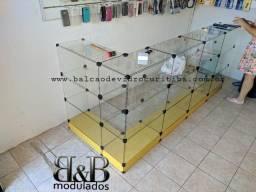 Balcao de vidro novo 3x1