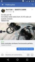 Vendo dois controles similares por 40 reais