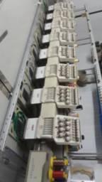 Maquina de bordar swf 8 cabeça com 9 agulha ano 2008