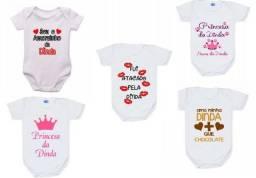 Body Infantil Personalizados com o Nome do bebê