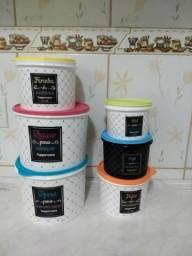 Tupperware kit mantimentos