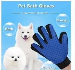 Luva para escovar e remover pelos de cães e gato