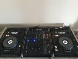 Cdj 850k mais mixer djx750 com case.