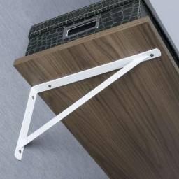 Cantoneira suporte para prateleira 50 cm reforçado
