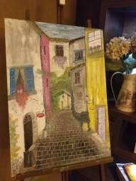 Quadro Tela - Pintura óleo Villa D'Italia
