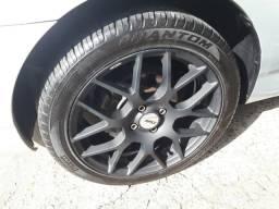 Barbada!!! rodas tsw numburgring 17/7 4x100 com pneus pirelli