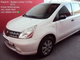 Nissan Livina 1.6 Flex - Completo - Placa A - 2012