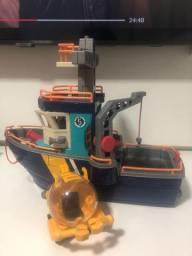 Barco Imaginex + submarino original