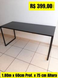 Escrivaninha Industrial 1.80m x 60 cm Nova