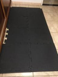 8 Tatames Preto 50cmx50c 20m De Espessura