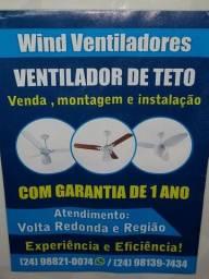 Venda e instalação de ventiladores de teto