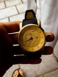 Kit CatMrl Golden Dragon  Edition - Corrente Dourada + Relógio Dragon Dourado.