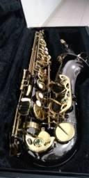 Sax alto Eagle SA 500 semi novo lindo onix gold