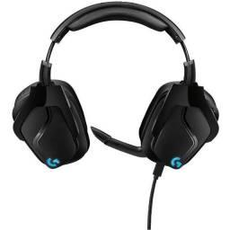 Headset Gamer Logitech G935, Sem Fio, RGB- Preto e Azul