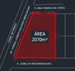 Alugo terreno 2070m² no Catolé c/ grande potencial comercial (todo ou metade) | 2 esquinas