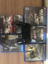Jogos de PS4 + Controle