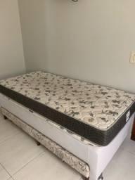 Cama box solteiro ortobom+ colchão ortobom + cama auxiliar