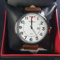 Relógio Technos couro, garantia de 1 ano